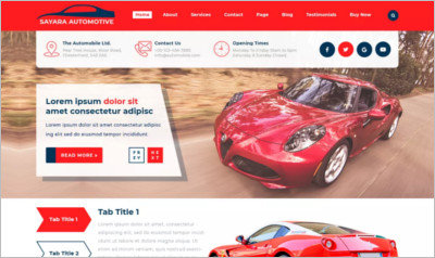 Sayara Automotive WordPress Theme