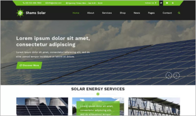 Shams Solar WordPress Theme