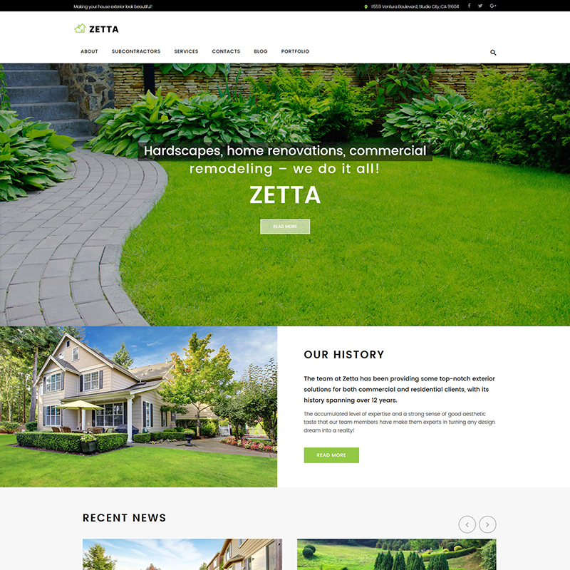 Zetta - Exterior Design WP Theme