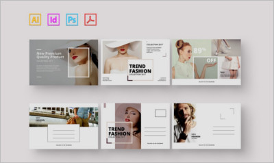 Fashion Postcard - Postcard Template