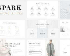 Spark Minimal Google Slides Template