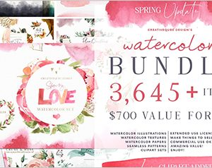 Watercolor Bundle - FREE Updates