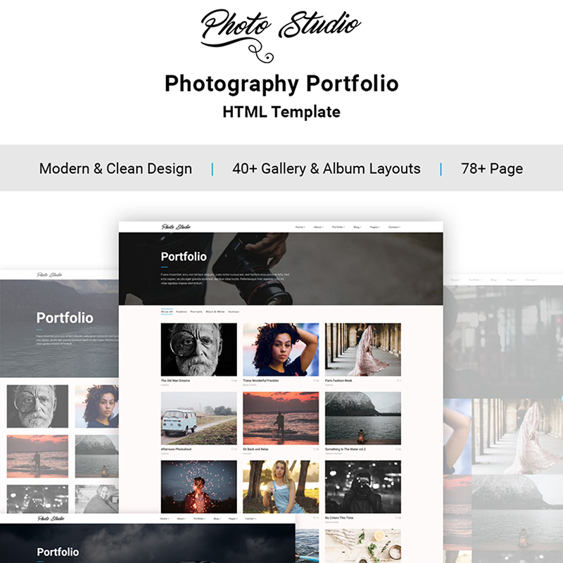 Photo Studio HTML5 Template