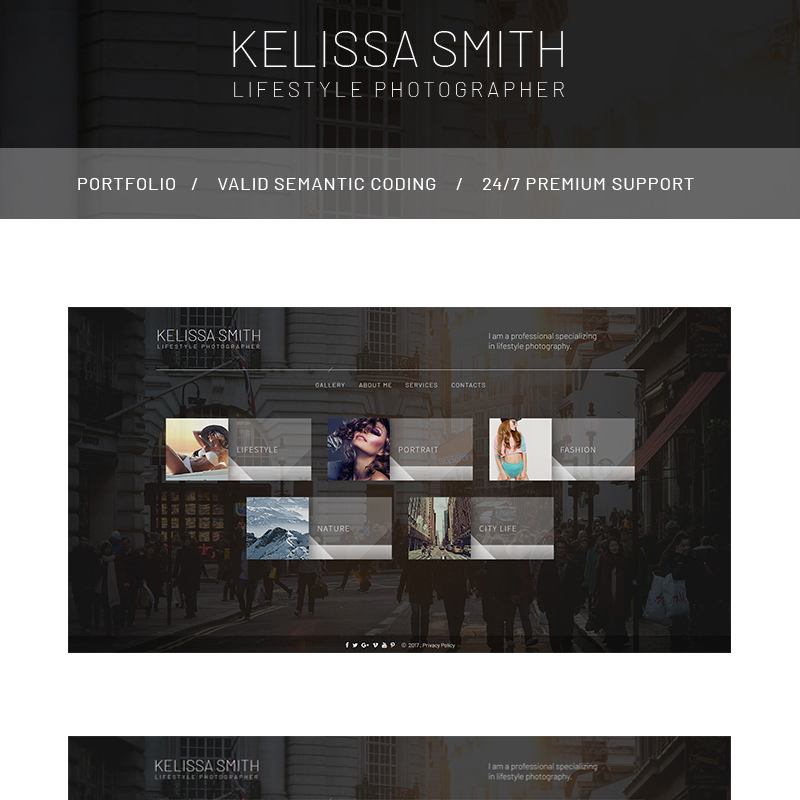 Photographer Portfolio HTML Website Template