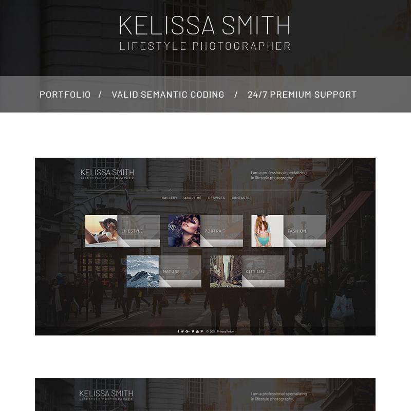 Photographer Portfolio HTML Website Template