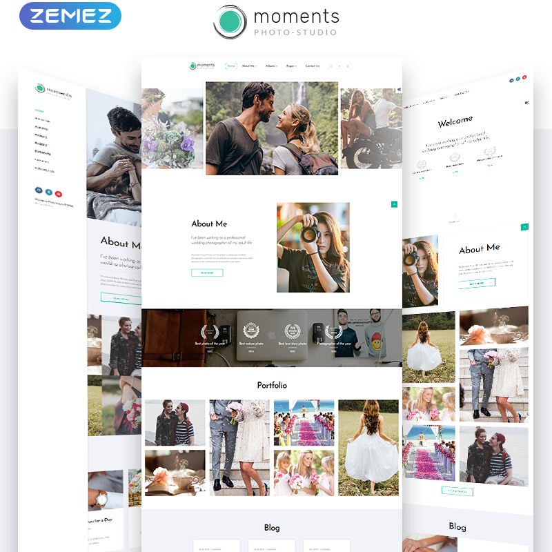 Moments Photographer Portfolio Multipurpose HTML5 Template