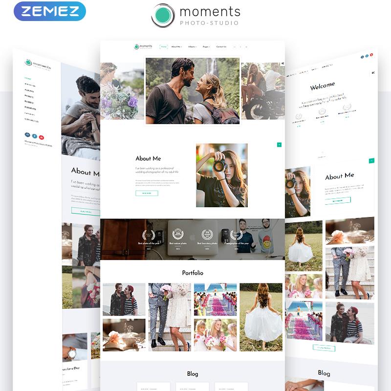 Moments Photographer Portfolio Multipurpose HTML5 Template