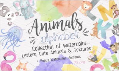 Animals Alphabet Watercolor Kit