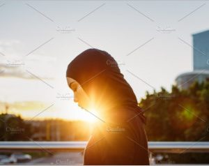 Arabic woman runner outdoors