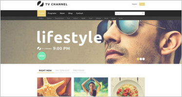 Best TV Channel Joomla Website Templates