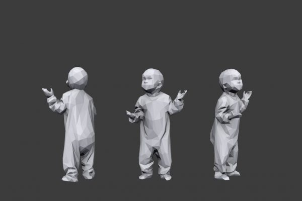 Low poly Children Pack