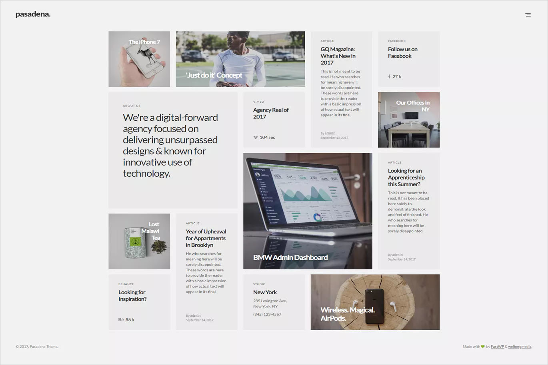 Contemporary Portfolio WordPress Theme