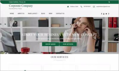 Corporate Company  Wordpress Theme - Free Download