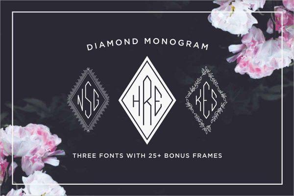 Diamond Monogram Font | Symbol Fonts