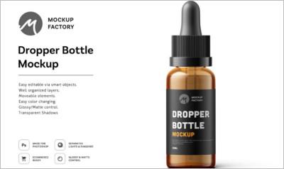Dropper Bottle Mockup || Product Mockups