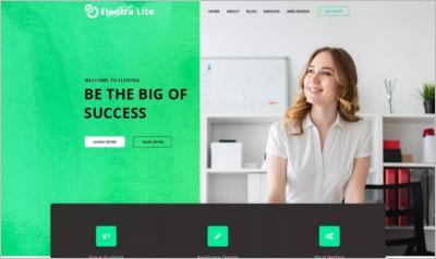 Elentra Lite Corporate WordPress Theme - Free Download