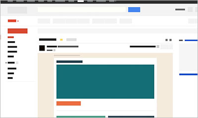 Gmail Wireframe