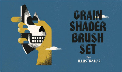 Grain Shader Brushes For Illustrator