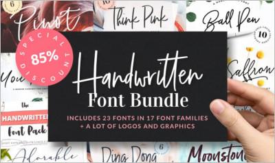Handwritten Font Bundle is back
