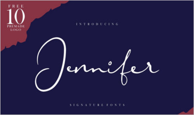 Jennifer Signature Fonts - Logo