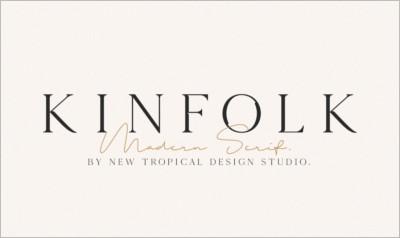 KINFOLK Modern Serif Font
