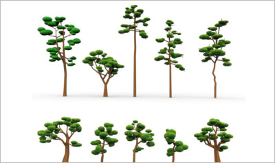 Low Poly Cartoon Tree
