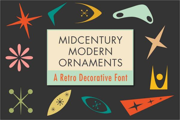 Mid-Century Modern Ornaments Font