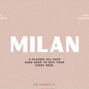 Milan Vintage Sans Serif