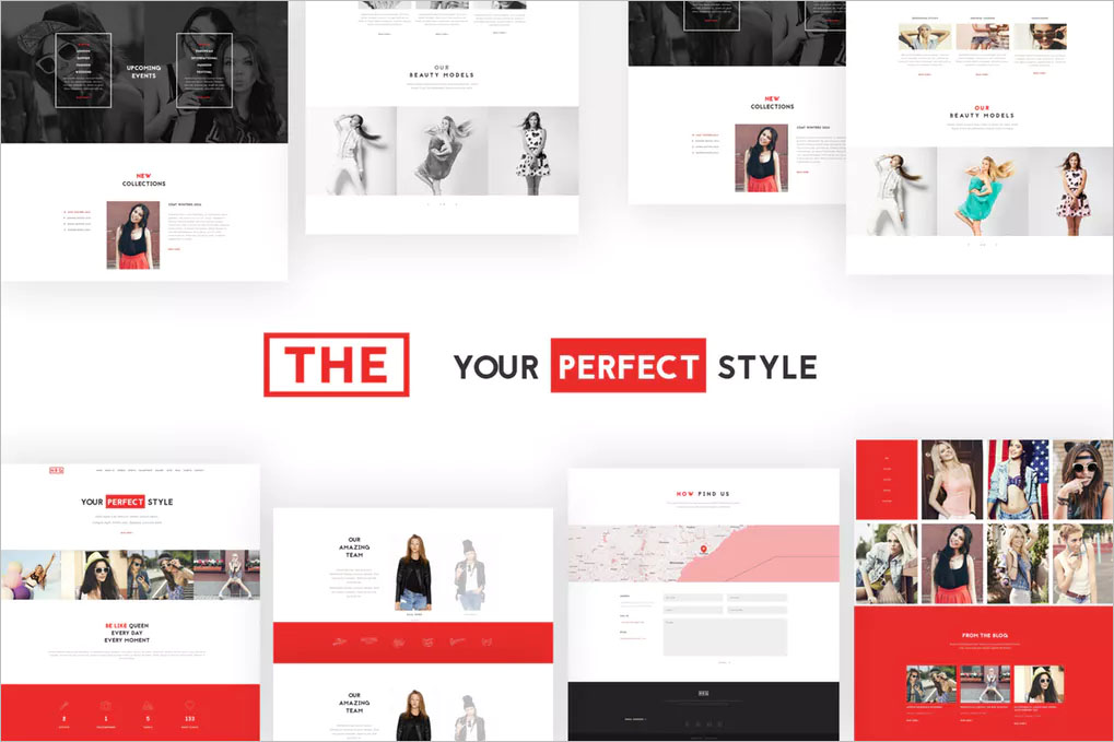Model Agency One Page WP Theme
