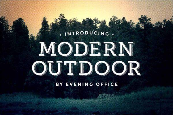 Modern Outdoor - Font