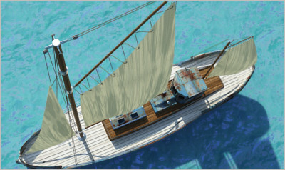 Odessa fishing boat - 3D Vehicles