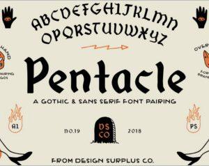 Pentacle Font