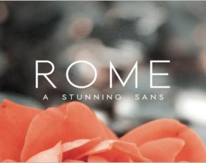 Rome A Stunning Sans Serif photos