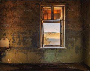 Ruins mining town Kolmanskop