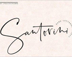Santorini Luxury Signature Font