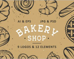 Set of bakery