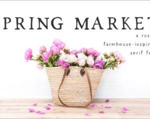 Spring Market Rustic Font