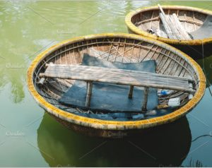 Traditional Basket Boat in Vietnam