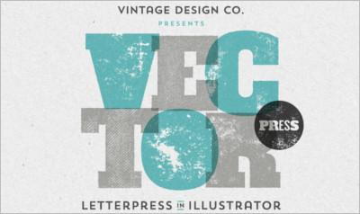 VectorPress Illustrator Letterpress