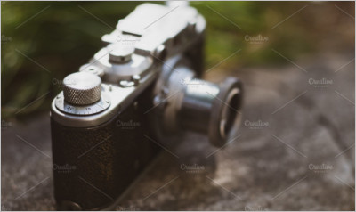 Vintage camera with chrome details
