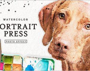 Watercolor Portrait Effect PRO