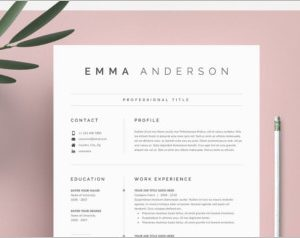 Word Resume Cover Letter