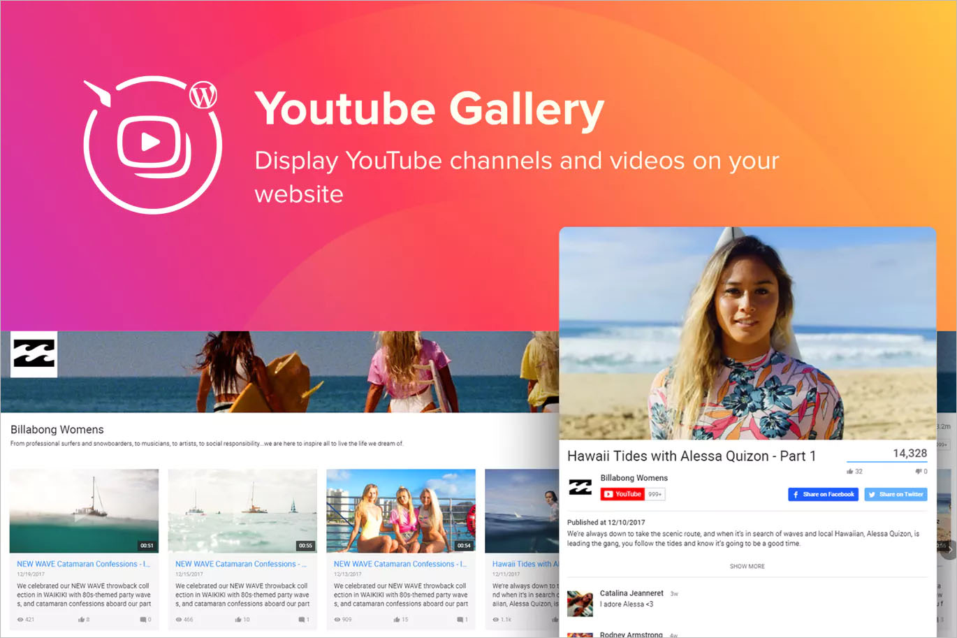 WordPress YouTube Gallery Plugin