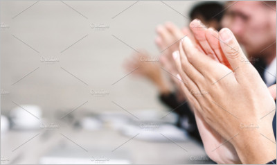 business people clapping hand