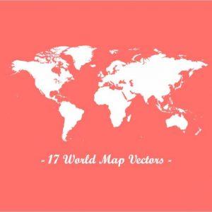 17 World Map Vectors