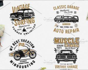 4 Summer Surf & Classic Garage Print