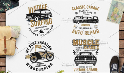 4 Summer Surf & Classic Garage Print