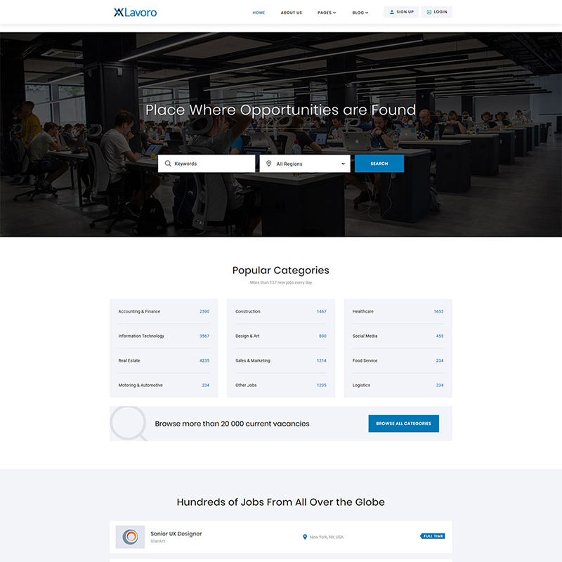 Jobs Portal Multipage HTML5 Template