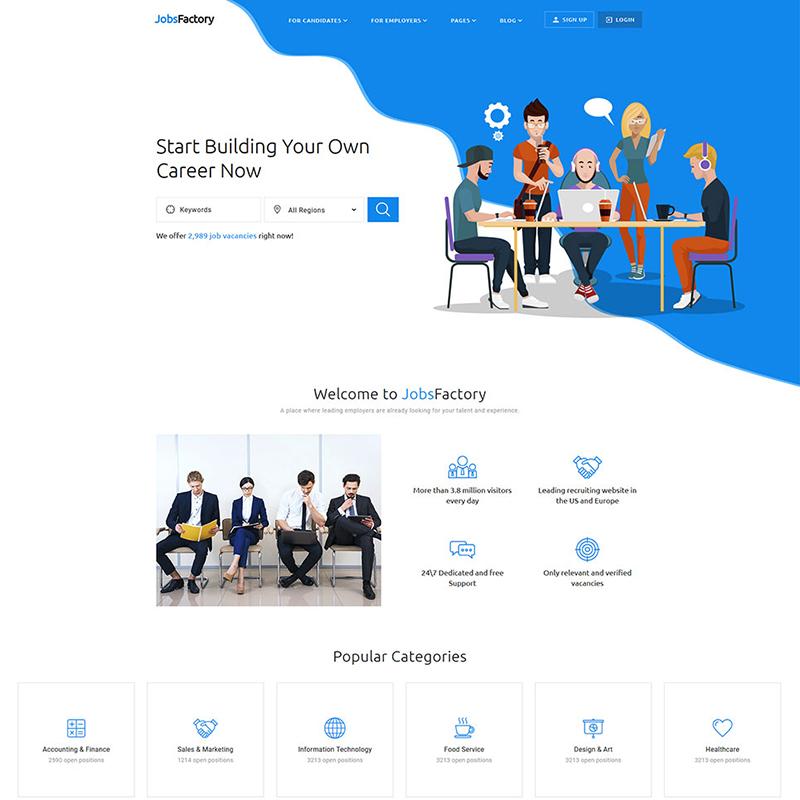 Job Portal Multipage HTML5 Website Template