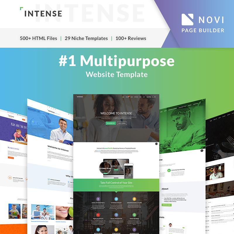 Intense - Multipurpose Website Template